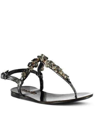 Marjin Taşlı Sandalet Gümüş